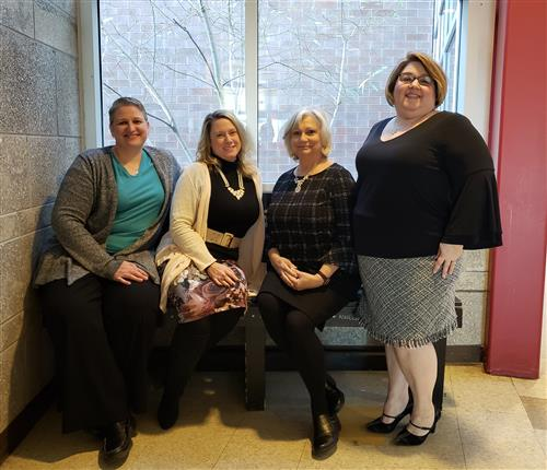 Student Services Team from left to right.  Jodi LaRose, Megan McCullough, Mary Mongelluzzo and Gina Ross
