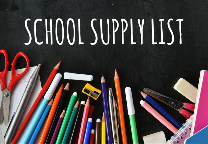 2019 - 2020 Supply List