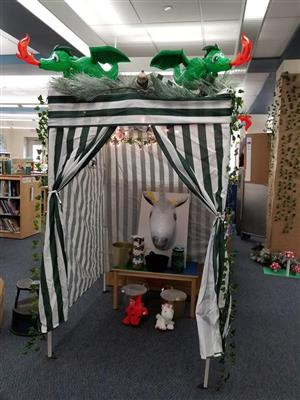 Unicorn Dragon Book Fair Tent