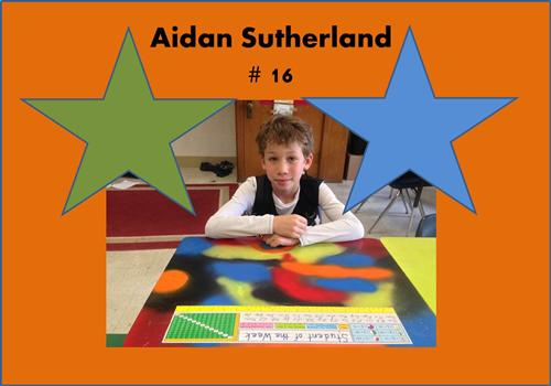 Student of the Week 16