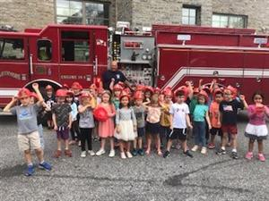 Swarthmore Firefighters Visit SRS!