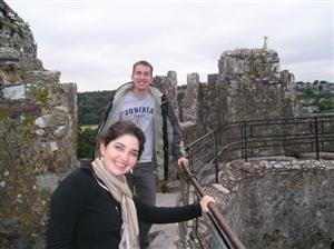 Mr. O'Donnell and his sister at Blarney Castle in Ireland
