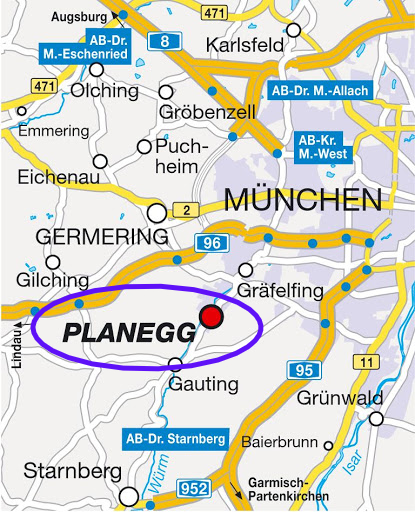 Where is Planegg, Germany